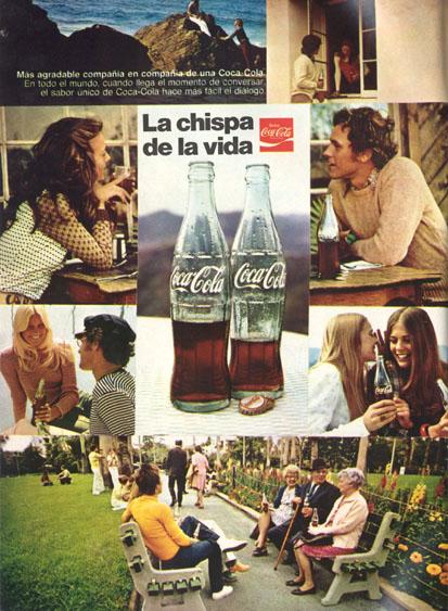 Bebidas cocacola 1974 - Caligrama Comunicación