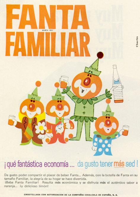 Bebidas fanta 1968 - Caligrama Comunicación