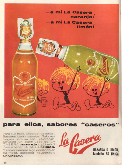 Bebidas lacasera 1967 - Caligrama Comunicación