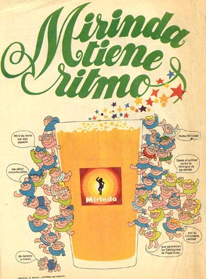 Bebidas mirinda 1972 - Caligrama Comunicación