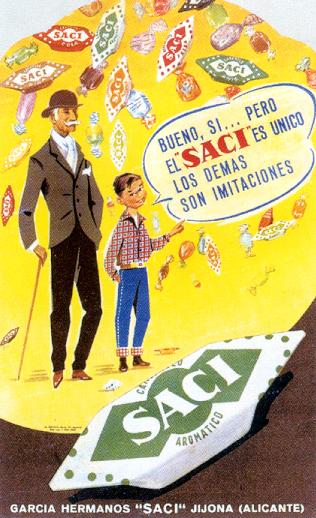 dulces saci 1960 - Caligrama Comunicación