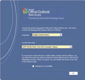 Evitar pantalla inicial de configuración OWA 2007