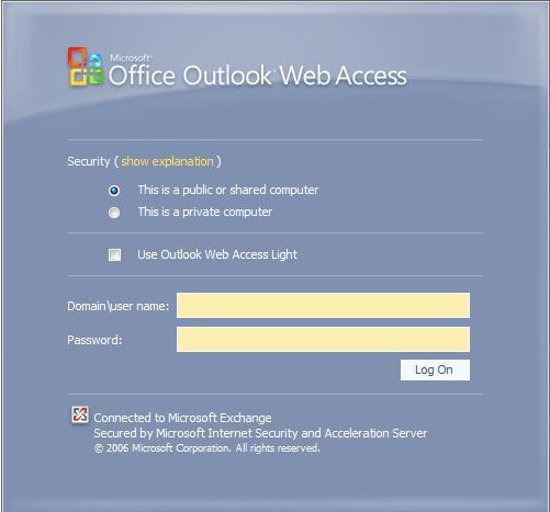 OWA no funciona desde Windows Vista
