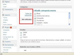 Bug en Blogroll de WordPress???