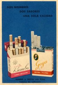 Cigarrillos Rumbo y Goya (1963)