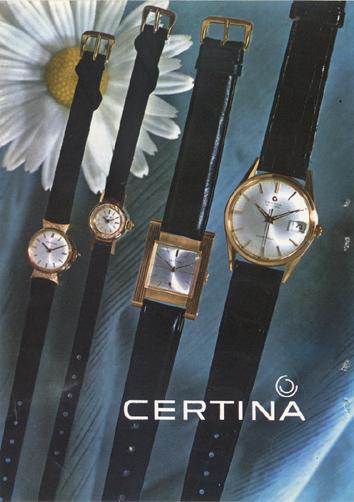 Relojes Certina (1964)
