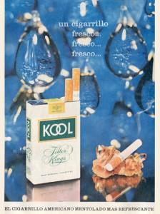 Lee más sobre el artículo Cigarrillos mentolados Kool (1965)
