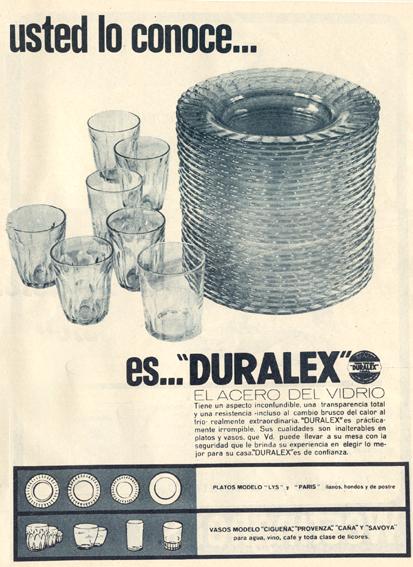 Vajillas Duralex (1966)