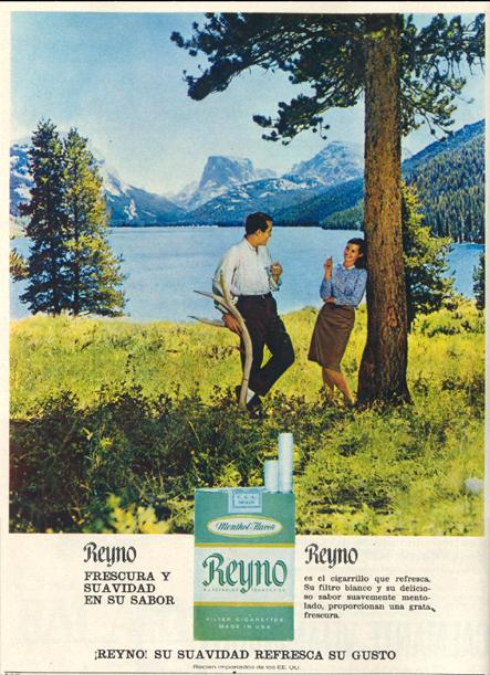 Cigarrillos mentolados Reyno (1967)