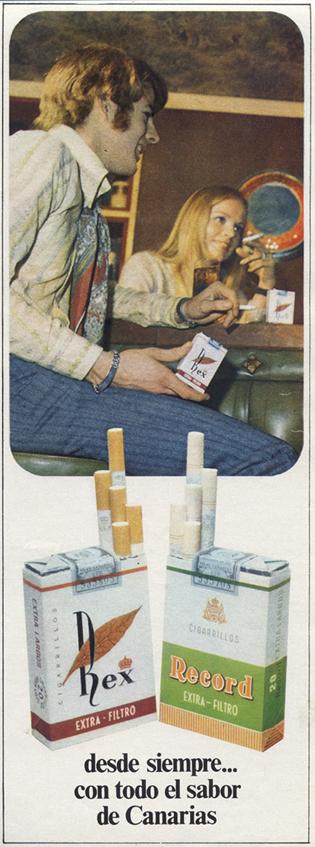 Cigarrillos Rex y Record (1970)