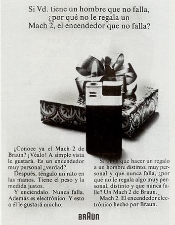 Encendedor «Mach 2» de Braun (1972)