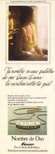 Lee más sobre el artículo Cadenas de oro Finor (1975)