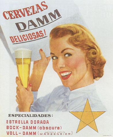 Cerveza Estrella Dorada Damm (1962)