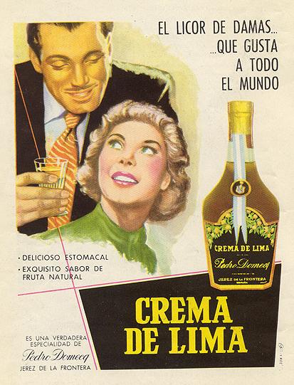 Crema de Lima, de Domecq (1950)