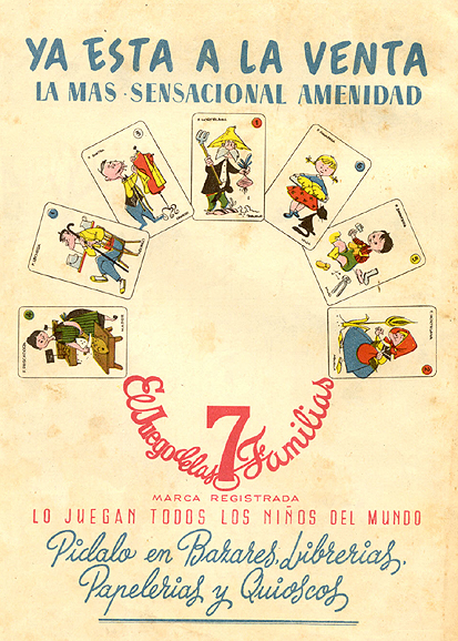 Naipes «El Juego de las Familias» (1959)