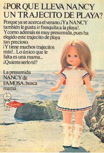 Lee más sobre el artículo Muñeca Nancy con trajecito de playa, de Famosa (1972)