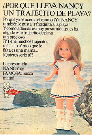 Muñeca Nancy con trajecito de playa, de Famosa (1972)