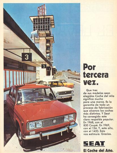 Seat 1430, Coche del año (1970)